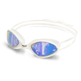 Head Tiger Race Mirrored LiquidSkin Maschera, bianco/blu